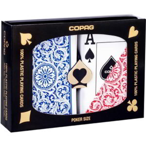 COPAG 100% plastic poker playing cards (blue & red), double deck Set